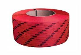 Taśma polipropylenowa PP 09 x 0.55 mm/200/3200 m/czerwona z twoim nadrukiem