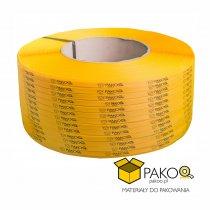 Taśma polipropylenowa PP 09 x 0.55 mm/200/3200 m/żółta z twoim nadrukiem