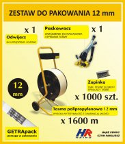 Profesjonalny zestaw do pakowania TEMPO z paskowaczem GETRApack na taśmę 12 mm