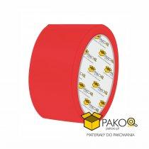 Taśma samoprzylepna o szerokości 48 mm/ klej akrylowy, kolor czerwony / 50 m