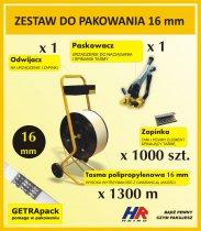Profesjonalny zestaw do pakowania TEMPO z paskowaczem GETRApack na taśmę 16 mm