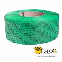 Taśma polipropylenowa PP 09 x 0.55 mm/200/3200 m/zielona z twoim nadrukiem